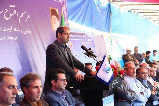 سد انحرافی و شبکه بویلاپوش در شهرستان خوی به بهره برداری رسید